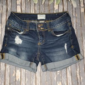 Mudd FLX Stretch Roll Cuffed Jean Shorts - Sz 3